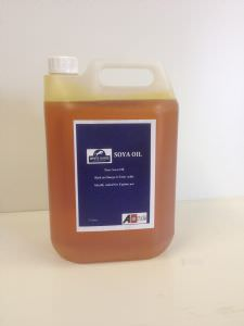 Soya Oil in a 5 litre container (click for enlarged image)